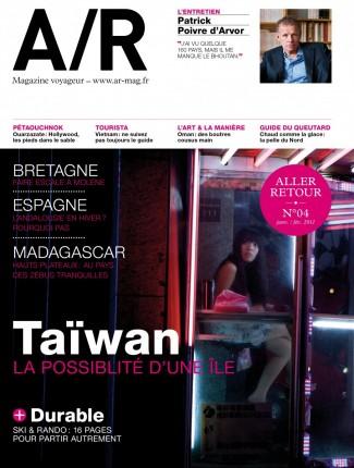 Couverture du numéro 04 de A/R magazine voyageur