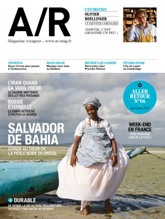 Couverture du numéro 06 de A/R magazine voyageur