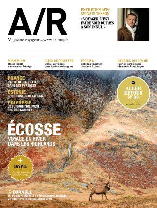 Couverture du numéro 09 de A/R magazine voyageur