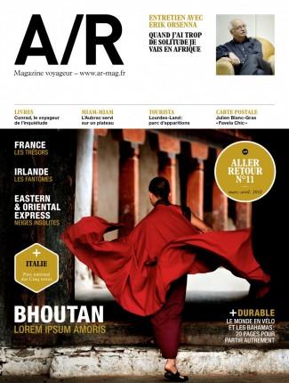 Couverture du numéro 11 de A/R magazine voyageur