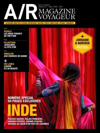 Couverture du numéro 25 de A/R magazine voyageur