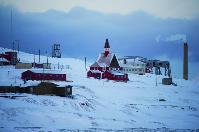 L'église de Notre Sauveur (1921). Longyearbyen. Svalbard.