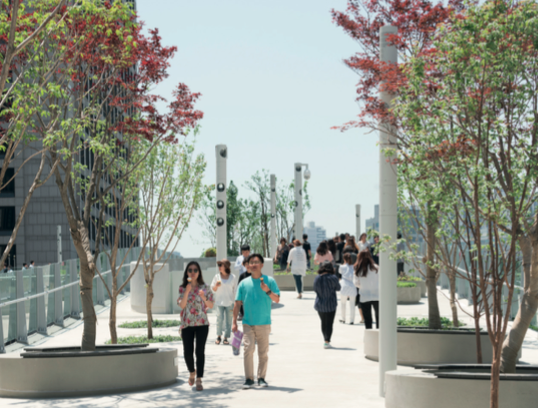 Seoullo 7017, les jardin suspendus de Séoul