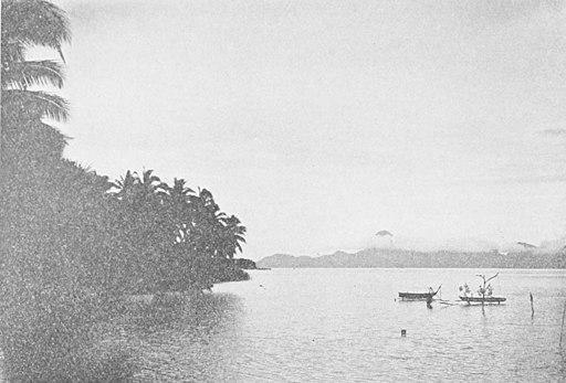Ar Mag Île de Moorea vue de Tahiti après un orage.