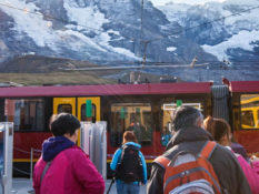 Jungfraujoch, la plus haute haute gare d'Europe à 3454m d'altitude